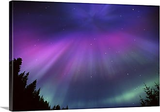 Great Big Canvas Aurora Corona Over Crow Creek Print Wall Art - 1035828_24_24X16_NONE