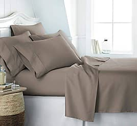 iEnjoy Home Simply Soft SS-6PC-KING-TAUPE Bed Sheet Set, King, Taupe