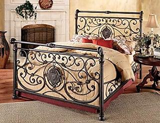 Hillsdale Furniture Hillsdale Furniture 1039BKR Mercer Bed Set with with Rails, King, Antique Brown