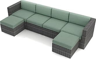 Harmonia Living Outdoor Harmonia Living District 6 Piece Patio Sectional Set - HL-DIS-TS-6SEC-SP