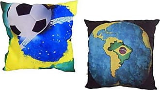 Uniart Kit Almofada Impressão Digital Brasil ALM-CP-01P/ALM-DV-06P 35x35 cm Uniart - Almofada com Estampa