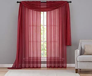 VCNY Home VCNY INF-PNL-108-IN-RD Infinity Sheer Panel, 55 by 108-Inch, Red