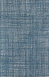 Momeni Rugs Momeni Rugs COMO0COM-6BLU3B57 Como Contemporary Geometric Indoor Outdoor Area Rug, 311 X 57, Blue