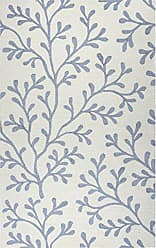 Rizzy Home Azzura Hill Collection Polypropylene Ivory/Gray Botanical Area Rug 36 x 56