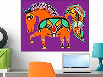 Wallmonkeys Ukrainian Tribal Ethnic Painting Wall Decal Peel and Stick Graphic WM237682 (24 in W x 18 in H)