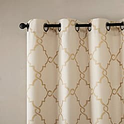 Madison Park Saratoga Room-Darkening Curtain Fretwork Print 1 Window Panel with Grommet Top Blackout Drapes for Bedroom and Dorm, 100x84, Spice