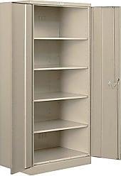 Salsbury Industries Heavy Duty Assembled Storage Cabinet, 78-Inch High by 18-Inch Deep, Tan