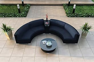 Harmonia Living Outdoor Harmonia Living Urbana 4 Piece Curved Patio Sectional Set - HL-URBN-CB-4CSEC-IN