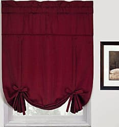 United Curtain Metro Woven Tie Up Shade, 40 by 63-Inch, Burgundy