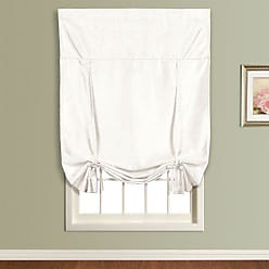 United Curtain Anna Tie Up Shade, 40 by 63-Inch, White