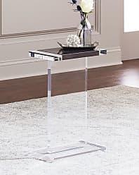 Interlude Home Waldo Rectangle Acrylic Side Table