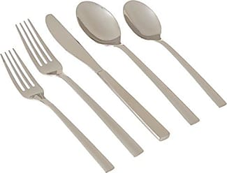 Cambridge Silversmiths 20 Piece Cortney Mirror Flatware Silverware Set, Stainless Steel, Service for 4, Includes Forks/Spoons/Knives