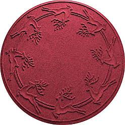Bungalow Flooring AquaShield Reindeer Run Tree Skirt, 35 x 35, Red/Black