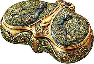 Design Toscano Art Nouveau Twin Peacock Jewel Box