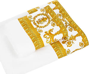 Versace Barocco&Robe Towel - White/Gold - Face Towel