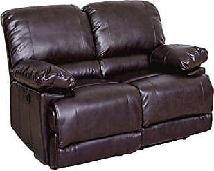 CorLiving LZY-342-L Lea Collection Reclining Loveseat Chocolate Brown