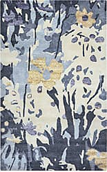 Rizzy Home Avant-Garde Collection Wool/Viscose Blue/Ivory Graphic Area Rug 2 x 3