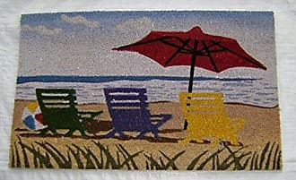 Geo Crafts Vinyl Back Beach Umbrella Doormat