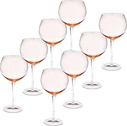 Certified International Red Wine Stemware Glass (Set of 8), 28 oz, Pink