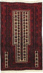 Nain Trading Baluch Rug 411x32 Dark Grey/Dark Brown (Afghanistan, Hand-Knotted, Wool)