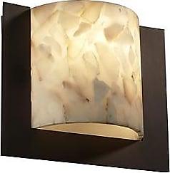 Justice Design Group Alabaster Rocks! Framed Square Wall Sconce