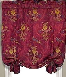 United Curtain Jewel Woven Tie Up Window Shade, 40 x 63, Burgundy