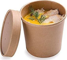 Restaurantware 200-CT Disposable 12-OZ Bio Soup Container - Medium Kraft Soup Cups: Perfect for Cafes - Eco-Friendly Recyclable Paper Cup - Wholesale Takeout Food Container - Lid Available - Restaurantware