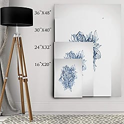 WEXFORD HOME Dmitry Andruz Leaves Blue Gallery Wrapped Canvas Wall Art, 24x32