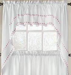 Sweet Home Collection Kitchen Window Curtain Tier, Swag, or Valance Treatment in Stylish and Unique Patterns and Designs for All Home Décor Daisy Mae Pink
