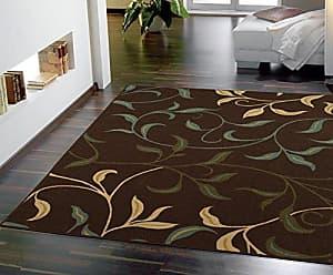 Ottomanson Contemporary Leaves Design Modern Area Rug, 50 W x 66 L, Choclate