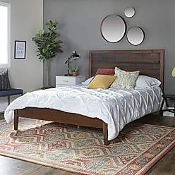 Walker Edison WE Furniture AZWQPLAMA Queen Bed, Mahogany