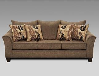 Round Hill Furniture Camero Fabric Pillowback Sofa Platinum - LAF7703CP