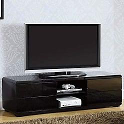 Benzara BM172725 Contemporary TV Console, Black, One