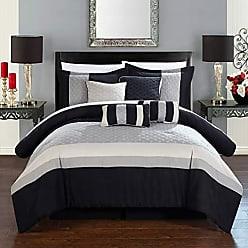 Chic Home Diamante 8 Piece Comforter Set, Queen, Beige