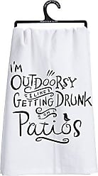 Primitives By Kathy LOL Made You Smile Dish Towel, 28 x 28, Im Im Outdoorsy