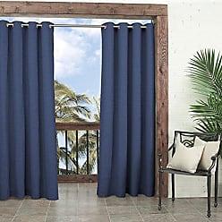Ellery Homestyles Parasol 14025052084IND Key Largo 52-Inch by 84-Inch Indoor / Outdoor Single Curtain Panel, Indigo