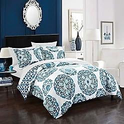 Chic Home Design Ibiza Duvet Cover Set 3 Piece - Blue - Size: Full/Queen