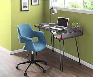 LumiSource Avery Mid Century Modern Writing Desk - OFD-AVRY DGY
