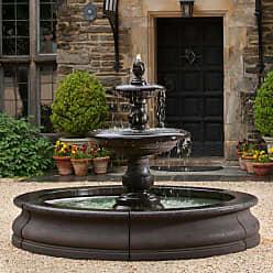 Campania International Caterina Cast Stone Outdoor Fountain in Basin French Limestone - FT-193-FL