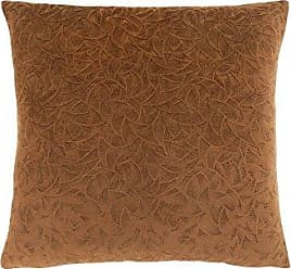Monarch Specialties Floral Velvet 18 x 18 Light Brown 1 Piece Pillow