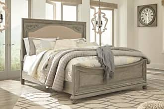 Ashley Furniture Marleny Cal King Panel Bed, Gray/Whitewash