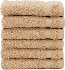 Linum Home Textiles Herringbone 100% Turkish Cotton Washcloths (Set of 6)