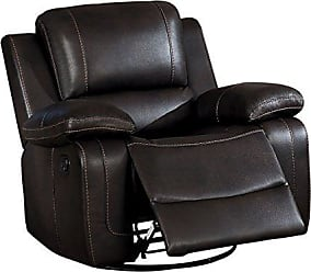 Homelegance Oriole 42 Leath-Aire Swivel Recliner, Brown