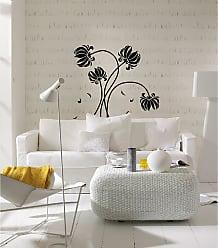 Ideal Decor Black Flowers Wall Decals - DM74110