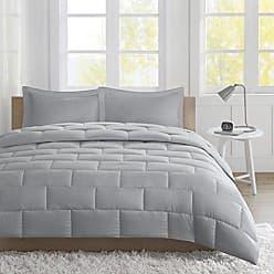 INTELLIGENT DESIGN Avery Seersucker Down Alternative Comforter Mini Set King Grey