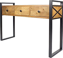 Heather Ann Creations W192231-SB Anderson Modern Industrial Wood Console Table with 3 Drawers, 47.5, Brown