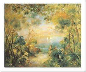 Buyartforless Buyartforless Garden at Sorrento, 1881 by Pierre-August Renoir 24x31 Art Print Poster