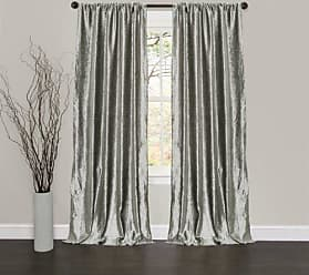 Lush Décor Velvet Dream Window Curtain Panels, 84 by 40-Inch, Silver, Set of 2