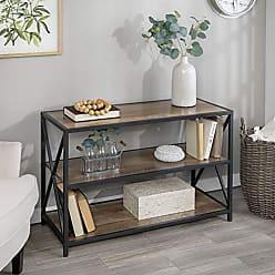 Walker Edison WE Furniture Wood Media Bookshelf in Rustic Oak - 40