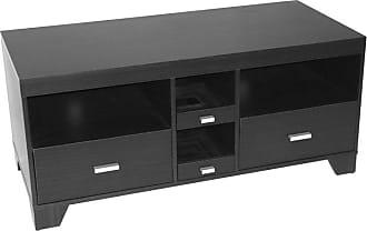 4D Concepts Large TV Stand - Black Wood Grain - 24706